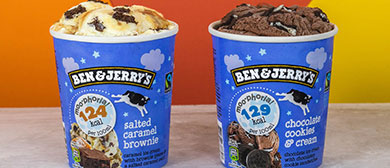 Two pints of Ben & Jerry's Moophoria Light Ice Cream