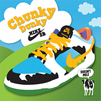From licks to kicks: Nike SB lanceert de Ben & Jerry's Chunky Dunky sneakers